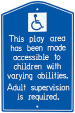 Playground Accessible Sign, wo/ Post