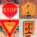 Traffic Signs (Set of 4)