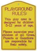Playground Age Appropriate Sign, without Post