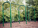 Arch Swing Set, 2 Bays with Four Strap Seats