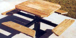Four-Sided Single Pedestal Picnic Table