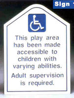 Accessible Sign w/ Powder Coated Green Post