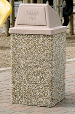 Enclosed Trash Can Receptacle - 30 Gal